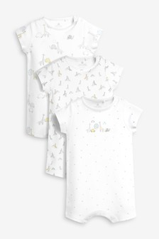 Delicate Giraffe Print Rompers Three Pack (0個月至2歲)
