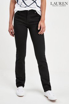 Lauren Ralph Lauren® Black Wash Straight Fit Jean