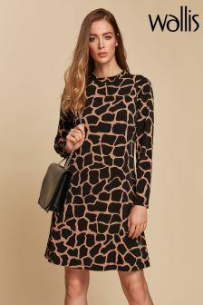 Wallis Camel Giraffe Swing Dress