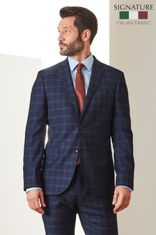 Slim Fit Cerruti Signature Check Suit