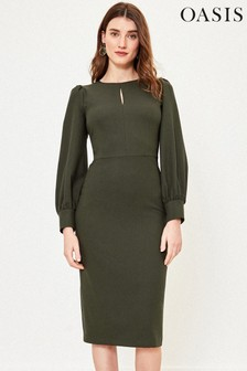 Oasis Green Crew Neck Shift Dress