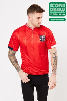 Score Draw England 1989 Retro Jersey Football Shirt