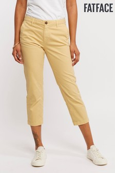FatFace Yellow Lulworth Chino Crop Trouser