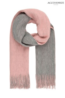 Accessorize Grey Opp 2 Tone Brushed Scarf