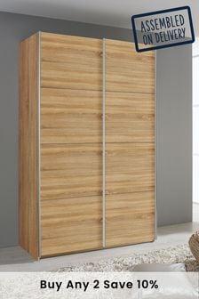 Cameron Oak Effect 1.36m Sliding Wardrobe by Rauch
