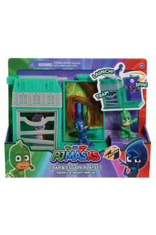 PJ Masks Night Time Micros Trap And Escape Playset Owlette And Luna Toy