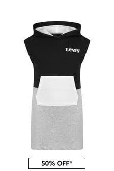 Levis Kidswear Girls Black Cotton Blend Dress