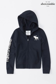 Abercrombie & Fitch Navy Core Zip Hoody