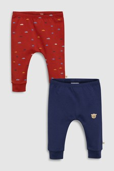 Pack de dos leggings estampados (0 meses-2 años)