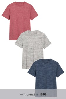 T-Shirts aus interessanten Materialien, 3er-Pack