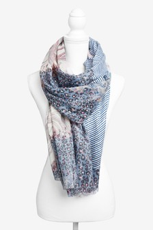 Marble Foil Lightweight Scarf