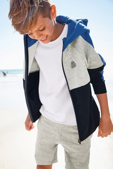 5916731614d Colourblock Zip Through Hoody (3-16yrs)