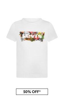 Levis Kidswear Boys White Cotton T-Shirt