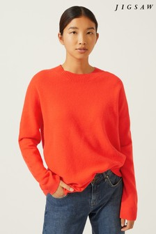 Jigsaw Red Slouchy Plait Detail Sweater