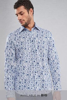 Smart Long Sleeve Floral Print Shirt