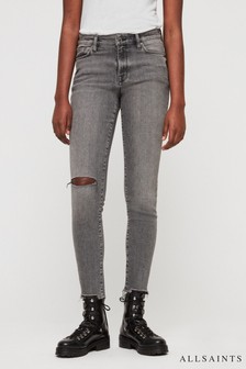 All Saints Grey Wash Grace Skinny Jean