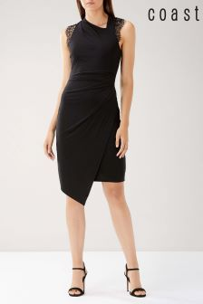 Coast Black Evan Lace Jersey Dress