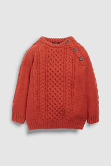 Cable Crew Sweater (3mths-6yrs)