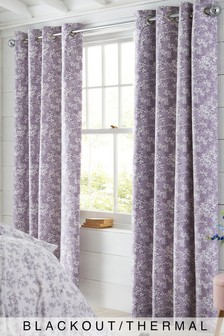 Ditsy Floral Blackout Eyelet Curtains