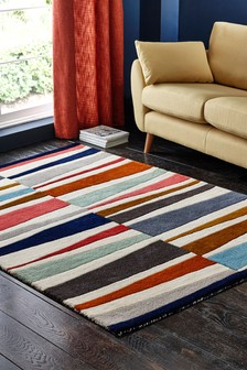 Broken Stripe Bright Rug