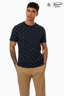 Original Penguin Blue Short Sleeve Print Stars T-Shirt