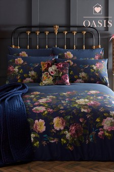 Oasis Renaissance Floral Cotton Duvet Cover and Pillowcase Set
