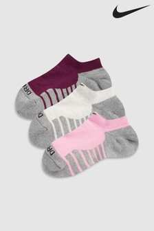 Nike Max Cushion Multi No Show Socks Three Pack