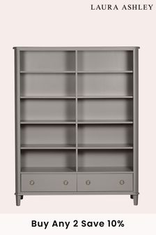 Henshaw Pale Charcoal 2 Drawer Double Bookcase by Laura Ashley