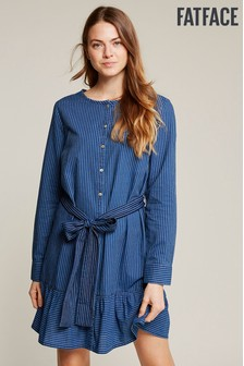 FatFace Blue Vernie Stripe Dress