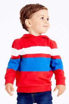 Long Sleeve Cosy Stripe Lightweight Hoody (3mths-7yrs)