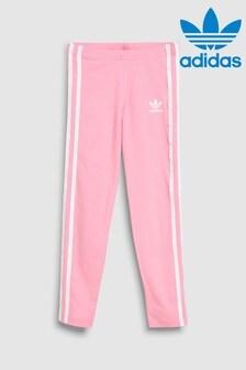 adidas Originals Little Kids Light Pink 3 Stripe Legging