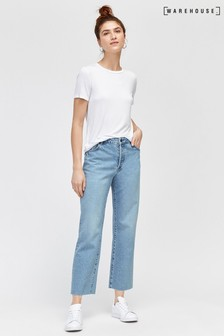 Warehouse Blue Straight Cut Jean