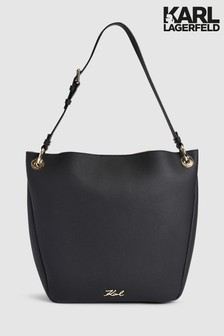 Karl Lagerfeld Black Karry All Hobo Bag