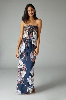 فستان ماكسي بدون حمالات