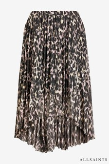 All Saints Leopard Print Pencil Skirt