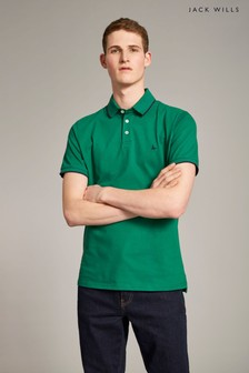 f90ab3784ed Jack Wills Dark Green Hamby Tipped Stretch Polo