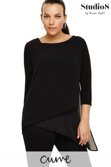 Studio 8 Black Minka Top