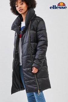Ellesse™ Heritage Black Peretta Coat
