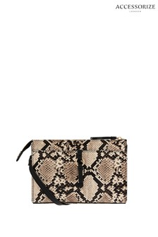 Accessorize Charlie Snake Print Cross Body Bag