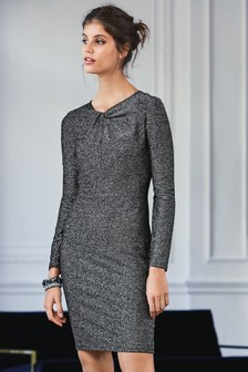 Sparkle Twist Neck Dress