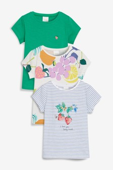 Fruit Short Sleeve T-Shirts Three Pack (3mths-7yrs)