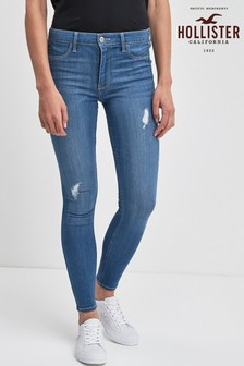 Hollister Mid Wash Rip Skinny Jeans