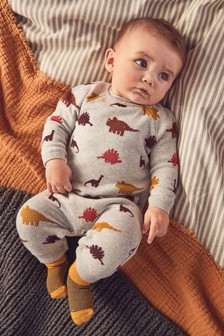 Knitted Dinosaur Romper (0mths-2yrs)