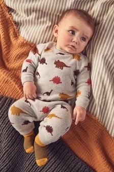 Tutina in maglia con dinosauro (0 mesi - 2 anni)