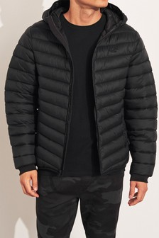 Hollister Black Padded Jacket