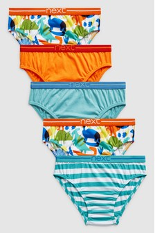Bright Dino Briefs Five Pack (1.5-8yrs)