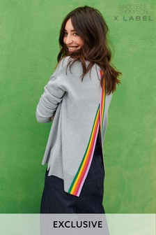 Madeleine Thompson x Label Open Back Rainbow Jumper