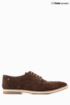 Base London® Brown Suede Crosby Lace Up Shoe