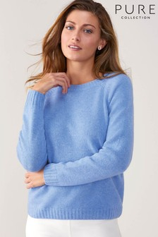 Pure Collection Blue Cashmere Lofty Sweatshirt
