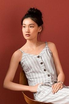 Linen Blend Stripe Cami